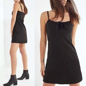 Urban Outfitters Linen Tie Front Mini Dress